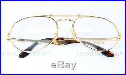ETTORE BUGATTI 11844 56-20 Aviator Original Vintage Eyeglasses Frame XL Gold
