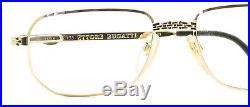ETTORE BUGATTI EB 510 0104 54mm Vintage Eyewear RX Optical FRAMES Eyeglasses-NOS