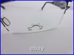 EYE DC Eyeglasses Rare Looking Frame Dark Blue Metal Mod. V700 Free Shipping