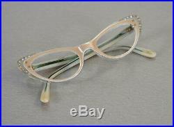 Edle Frame France MILAPPE Cat Eye Brille Lesebrille Rockabilly Ära 50er Jahre