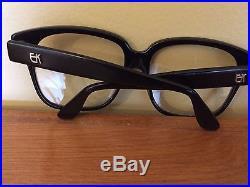 Emmanuelle Khanh Vintage glasses Large frame Black