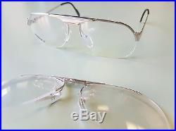 Essilor S Eyeglasses Vintage 1980's 2 in 1 French Made NOS Donny Brasco Style
