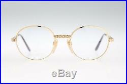 Ettore Bugatti EB 508 0104, Legendary 80s Vintage round eyeglasses NOS