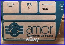 Extremely Rare Amor Vintage Eyeglasses Made In France During 1950s