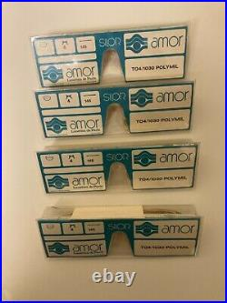 Extremely Rare Amor Vintage Eyeglasses Made In France During 1950s Lot Of 4