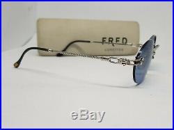 FRED CORVETTE Sunglasses Rimless Eyeglasses Brille Lunette Vintage Frame Glasses