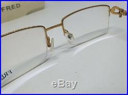 FRED FORCE 10 8417 Vintage Half Rimless Eyeglasses Frame NOS