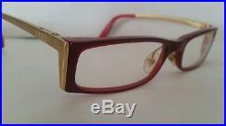 6704f285d59 Fred St. Moritz 004 Red Gold Eyeglasses Lunettes Polished Platinum Cartier