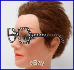 Fabulous vintage eyeglasses lunettes 1960 carved frame France