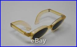 Fabulous vintage sunglasses lunettes 1950 foldable carved frame France