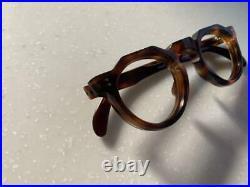 Frame France 1950-1960s Vintage CROWN PANTO Glasses 8mm Demi w 134mm Unused