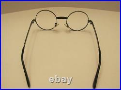 Frame France 44 Round Rare Vintage 1/20-14KT. GF Dark Gold Eyeglasses