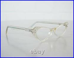 Frame France Selecta Cat Eye Brille Lesebrille Klar Rockabilly Ära 50er Jahre