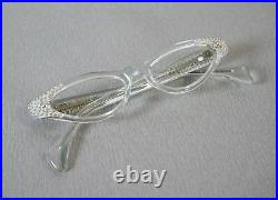 Frame France Selecta Klar Cat Eye Brille Lesebrille Rockabilly Ära 50er Jahre