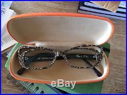 Francis Klein Paris eyeglass frames sparkly leopard