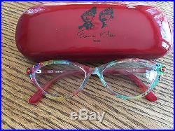 Francis Klein eyeglass frames-custom, handmade in Paris! A PARTY ON YOUR FACE
