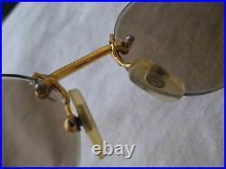Fred #586331 Orcade Vtg France 22k Plated Rimless Unisex Oval Sunglass/eyeglass