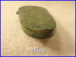 GENUINE 18th CENTURY RARE FRENCH SILVER READING GLASSES IN A SHAGREEN CASE