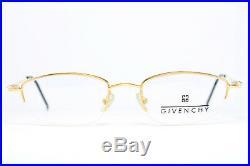 GIVENCHY 1034 Original Vintage Eyeglasses Frame Lunettes Brille Half-Rim Gold