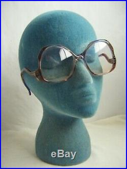 GIVENCHY X Vtg 70s Rainbow Clear France Made Women Wide Eyeglasses sz M