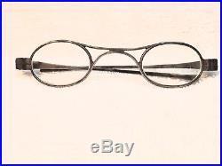 Genuine 1838 Scarce Hallmarked French Silver Eyeglasses With K Bridge