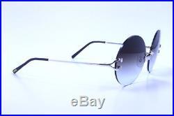 Genuine Vintage Cartier Platinum Round Sunglasses Eyeglasses Frame 55 -20 135
