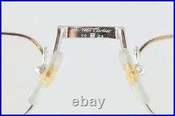 Great New Nos Vintage Cartier Demi Lune Platinum Eyeglasses Made In France