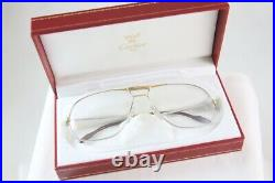 Great New Nos Vintage Cartier Tank Platinum Eyeglasses Made In France