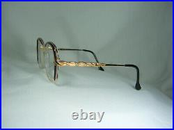 Jacques Fath, luxury eyeglasses, Gold plated, oval, square, women's, frames, NOS
