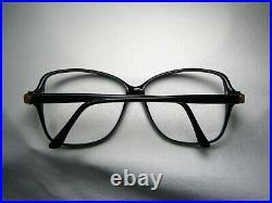 Jacques Fath luxury eyeglasses oval square scallop women's frames NOS vintage