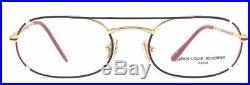 Jean Louis Scherrer Gilbert Colorful Red Black White Gold Eyeglasses 80s France