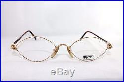 Kenzo Unique GOLD & Brown mottled Eyeglasses Frame. MOD. ORAGE K165. France