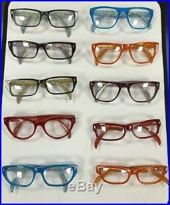Kirk Originals Mimas Vintage Ladies Retro Glitter Glasses Frames Orange
