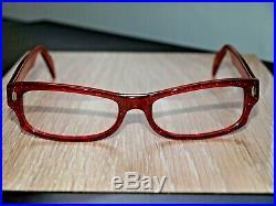 Kirk Originals Mimas Vintage Ladies Retro Glitter Glasses Frames Red