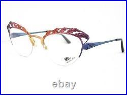 LOGO PARIS J. Parker Hand Painted Women's Semi Rimless Eyeglass Frames France