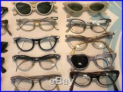 LOT Of 33 Vintage 1950s Eyeglasses Sunglasses Shur American Optical France MORE