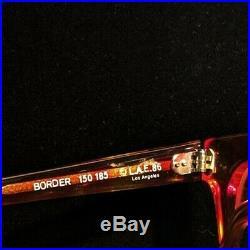 L. A. Eyeworks'Border' Vintage Red and Gold Eyeglass Frames Hand Made in France
