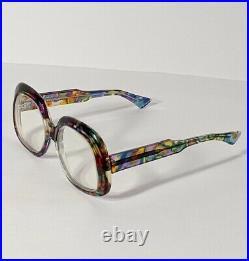L. Evrard Multicolor Butterfly Eyeglasses Frames Made in France Vintage