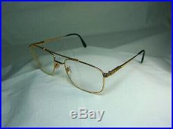 Lacoste Ultra Aviator Gold plated eyeglasses frames men's women's unisex vintage