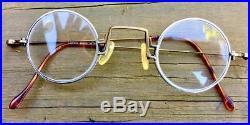 Lanvin steampunk round rare glasses frames eyeglasses eyewear bronze pewter
