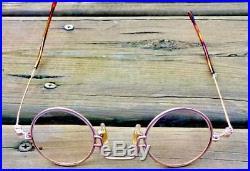 Lanvin steampunk round rare glasses frames eyeglasses eyewear rose gold finish