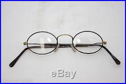 Les Puces Gouverneur Audigier Vintage Oval Eyeglasses Eyewear France 40mm Havana