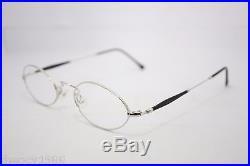 Les Puces Gouverneur Audigier Vintage Oval Eyeglasses Eyewear France 46mm Silver