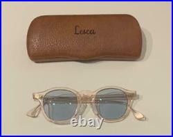 Lesca lunetier Vintage Crown Panto French Eye GlassesClear rose