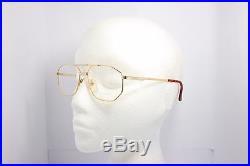 Loris Azzaro Intense 05 58mm 18-K Gold Silver Eyewear Eyeglass Frames