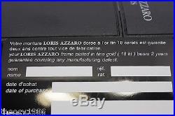 Loris Azzaro Intense 17 19 56mm 18-K Gold Black Eyewear Eyeglass Frames