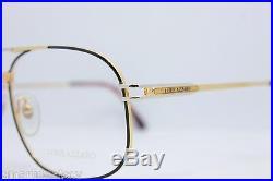 Loris Azzaro Intense 210 19 56mm 18-K Gold Black Eyewear Eyeglass Frames