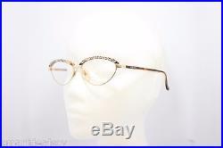 Loris Azzaro Star Paris 432 Brown Gold precious stones Vintage eyeglasses 57mm