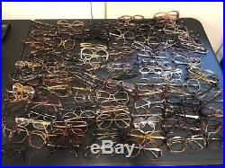 Lot of 133 Vintage Eyeglass Frames Sample Boxes and More, Italy, Germany, France