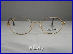 Louis Feraud Orfila Gold Oval Women's European Eyeglasses Frames Classic Vintage